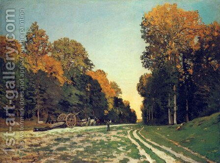 The Road From Chailly To Fontainebleau by Claude Oscar Monet - Reproduction Oil Painting