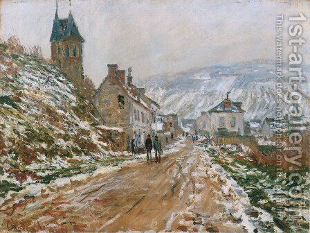 The Road In Vetheuil In Winter by Claude Oscar Monet - Reproduction Oil Painting