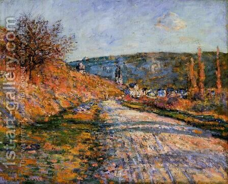 The Road To Vetheuil by Claude Oscar Monet - Reproduction Oil Painting