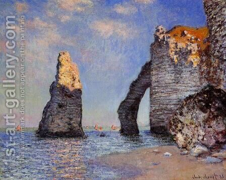 The Rock Needle And The Porte D Aval by Claude Oscar Monet - Reproduction Oil Painting