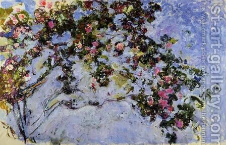 The Rose Bush by Claude Oscar Monet - Reproduction Oil Painting