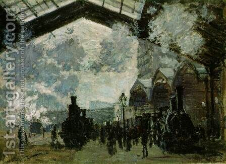 The Saint Lazare Station by Claude Oscar Monet - Reproduction Oil Painting