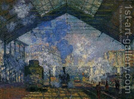 The Saint Lazare Station2 by Claude Oscar Monet - Reproduction Oil Painting