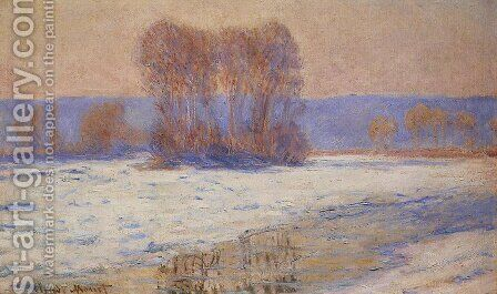 The Seine At Bennecourt In Winter by Claude Oscar Monet - Reproduction Oil Painting