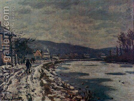 The Seine At Bougival by Claude Oscar Monet - Reproduction Oil Painting