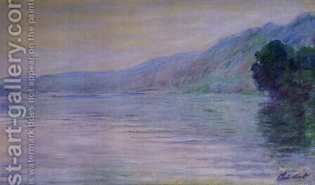 The Seine At Port Villez  Blue Effect by Claude Oscar Monet - Reproduction Oil Painting