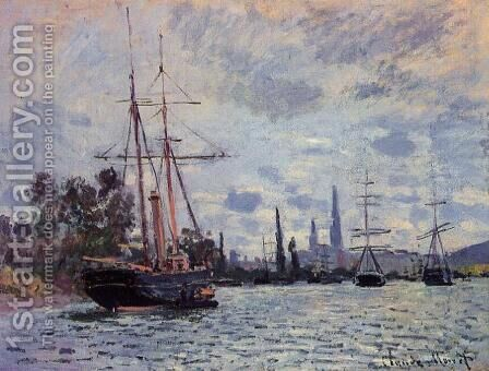 The Seine At Rouen2 by Claude Oscar Monet - Reproduction Oil Painting