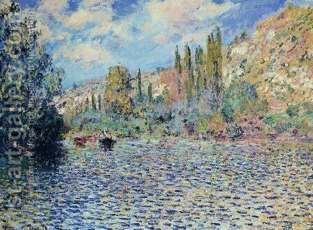 The Seine At Vetheuil 2 by Claude Oscar Monet - Reproduction Oil Painting