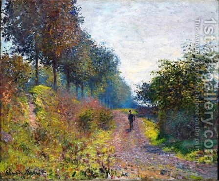 The Sheltered Path by Claude Oscar Monet - Reproduction Oil Painting