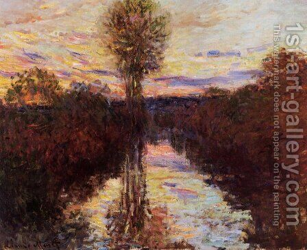 The Small Arm Of The Seine At Mosseaux  Evening by Claude Oscar Monet - Reproduction Oil Painting