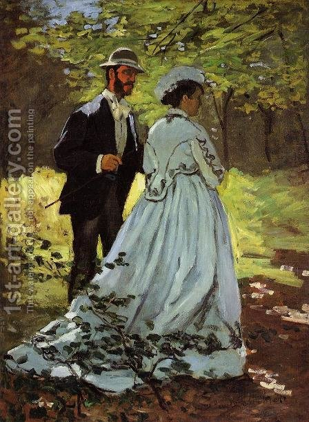 The Strollers by Claude Oscar Monet - Reproduction Oil Painting