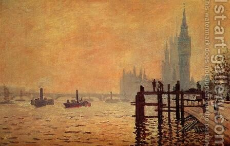The Thames Below Westminster by Claude Oscar Monet - Reproduction Oil Painting