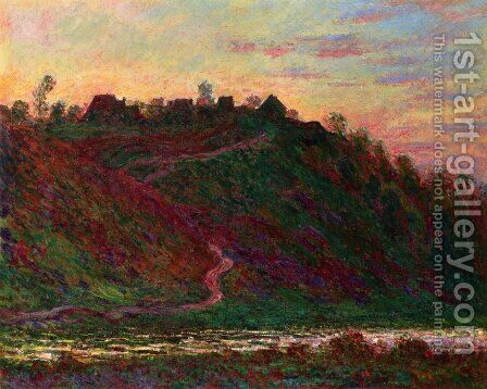 The Village Of La Coche Blond  Evening by Claude Oscar Monet - Reproduction Oil Painting