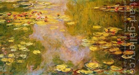 The Water Lily Pond 6 by Claude Oscar Monet - Reproduction Oil Painting