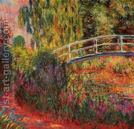 The Water Lily Pond Aka Japanese Bridge2 by Claude Oscar Monet - Reproduction Oil Painting