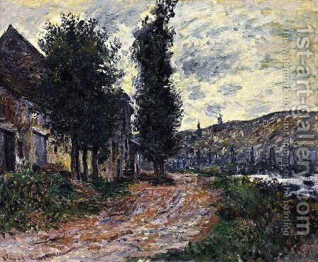 Tow Path At Lavacourt by Claude Oscar Monet - Reproduction Oil Painting