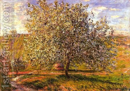 Tree In Flower Near Vetheui by Claude Oscar Monet - Reproduction Oil Painting