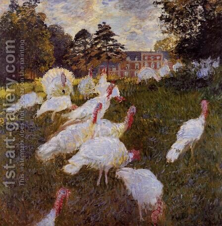 Turkeys by Claude Oscar Monet - Reproduction Oil Painting