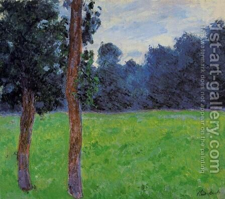 Two Trees In A Meadow by Claude Oscar Monet - Reproduction Oil Painting