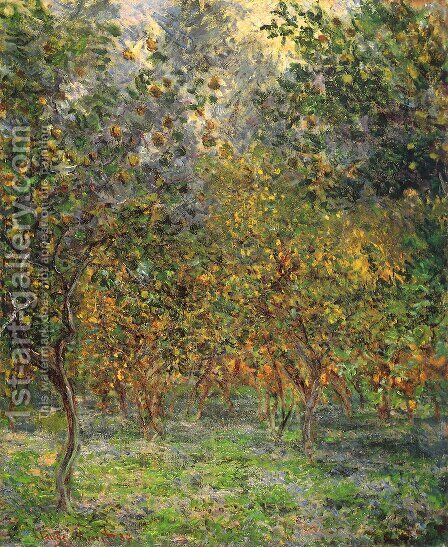 Under The Lemon Trees by Claude Oscar Monet - Reproduction Oil Painting