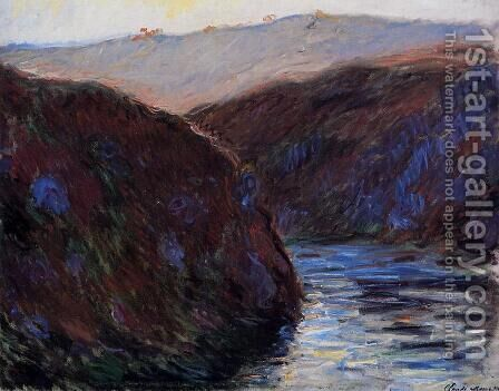 Valley Of The Creuse  Afternoon Sunlight by Claude Oscar Monet - Reproduction Oil Painting