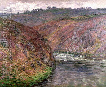 Valley Of The Creuse  Grey Day by Claude Oscar Monet - Reproduction Oil Painting