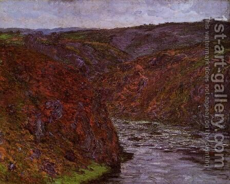 Valley Of The Creuse  Grey Sky by Claude Oscar Monet - Reproduction Oil Painting