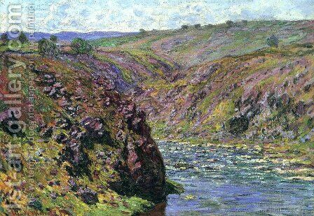 Valley Of The Creuse  Sunlight Effect by Claude Oscar Monet - Reproduction Oil Painting
