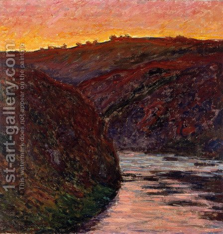 Valley Of The Creuse  Sunset by Claude Oscar Monet - Reproduction Oil Painting