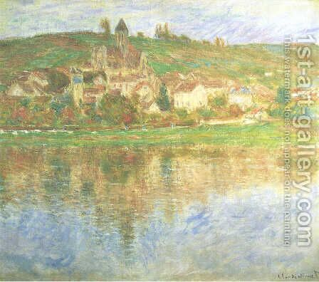 Vetheuil At Sunset by Claude Oscar Monet - Reproduction Oil Painting