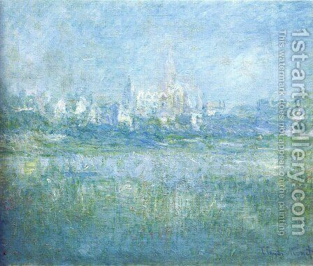 Vetheuil In The Fog by Claude Oscar Monet - Reproduction Oil Painting