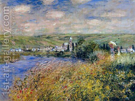 Vetheuil Seen From Ile Saint Martin by Claude Oscar Monet - Reproduction Oil Painting