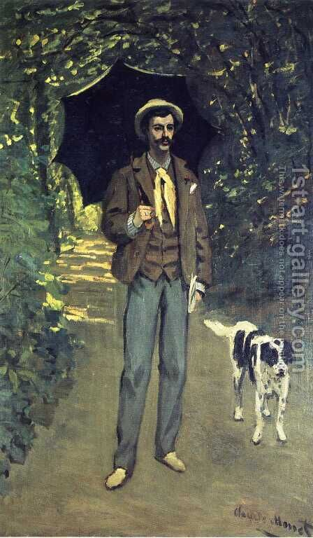 Victor Jacquemont Holding A Parasol by Claude Oscar Monet - Reproduction Oil Painting