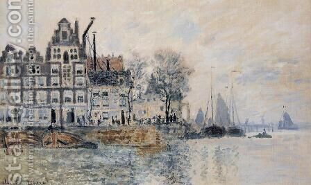 View Of Amsterdam by Claude Oscar Monet - Reproduction Oil Painting