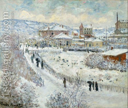 View Of Argenteuil In The Snow by Claude Oscar Monet - Reproduction Oil Painting
