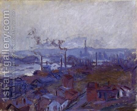 View Of Rouen From The Cote Sainte Catherine by Claude Oscar Monet - Reproduction Oil Painting
