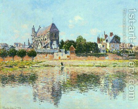 View Of The Church At Vernon by Claude Oscar Monet - Reproduction Oil Painting