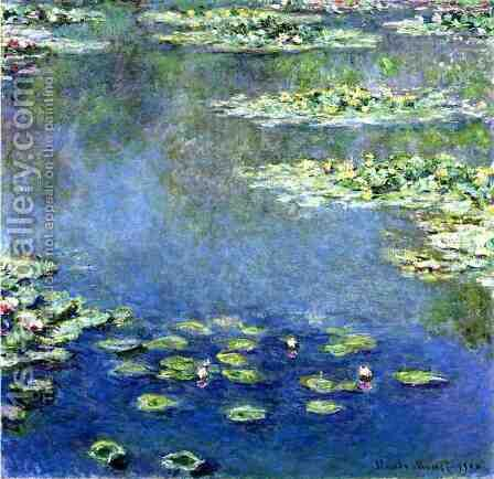 Water Lilies by Claude Oscar Monet - Reproduction Oil Painting