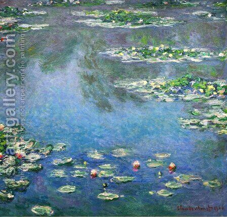 Water Lilies5 by Claude Oscar Monet - Reproduction Oil Painting