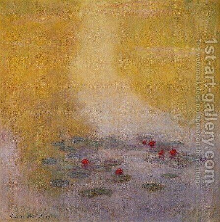 Water Lilies7 by Claude Oscar Monet - Reproduction Oil Painting