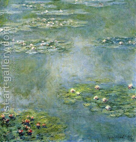Water Lilies16 by Claude Oscar Monet - Reproduction Oil Painting