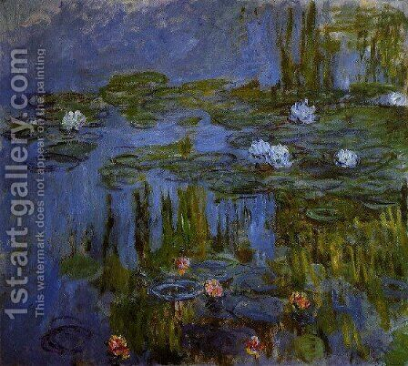 Water Lilies19 by Claude Oscar Monet - Reproduction Oil Painting