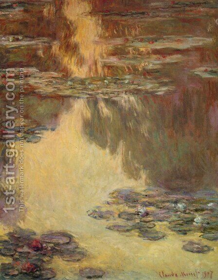 Water Lilies24 by Claude Oscar Monet - Reproduction Oil Painting