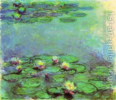 Water Lilies26 by Claude Oscar Monet - Reproduction Oil Painting