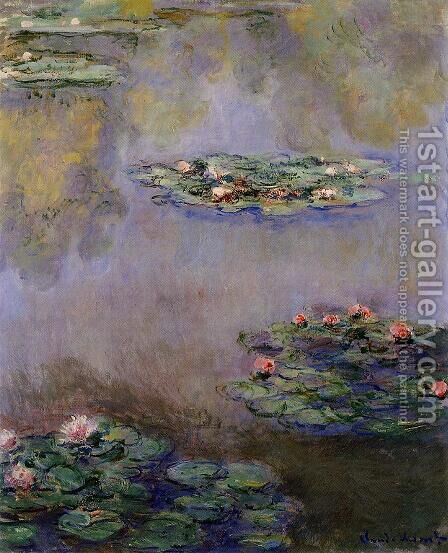 Water Lilies33 by Claude Oscar Monet - Reproduction Oil Painting