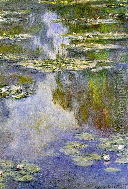 Water Lilies37 by Claude Oscar Monet - Reproduction Oil Painting