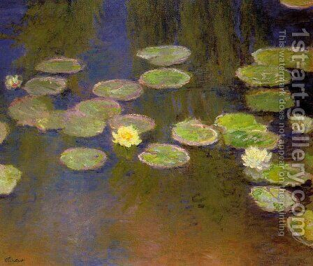 Water Lilies38 by Claude Oscar Monet - Reproduction Oil Painting