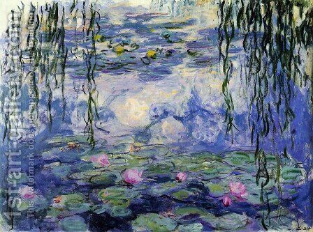 Water Lilies40 by Claude Oscar Monet - Reproduction Oil Painting
