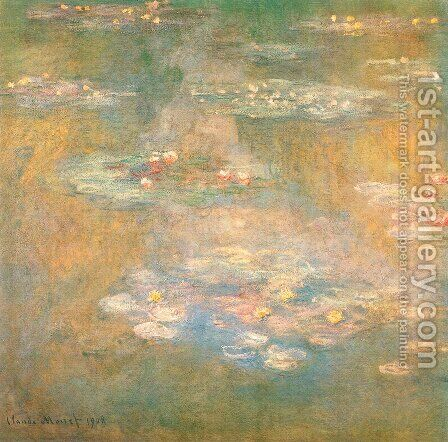 Water Lilies44 by Claude Oscar Monet - Reproduction Oil Painting