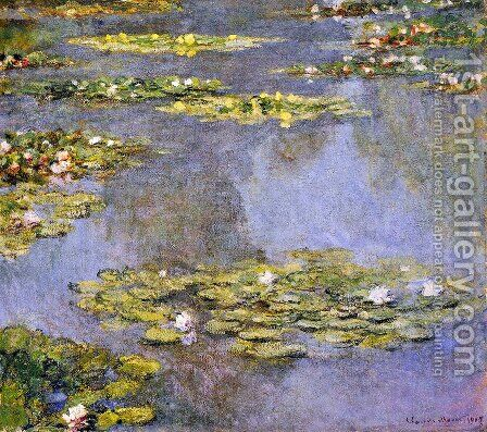 Water Lilies52 by Claude Oscar Monet - Reproduction Oil Painting